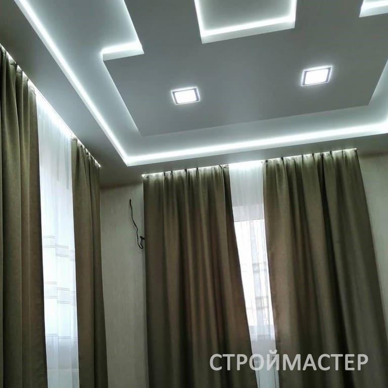 Натяжной потолок в зале Уфа