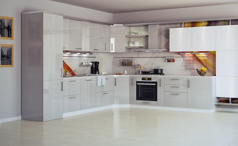 Кухня с фасадом из акрила по низкой цене
