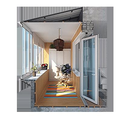 Комплекс услуг остекление балконов под ключ