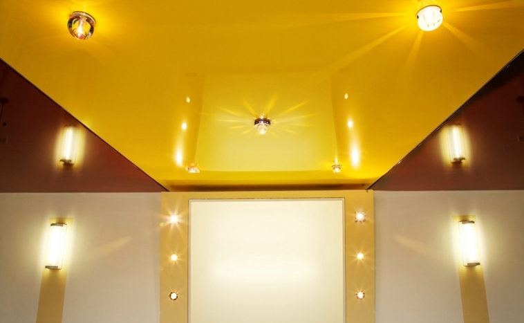 Цветные натяжные потолки Уфа