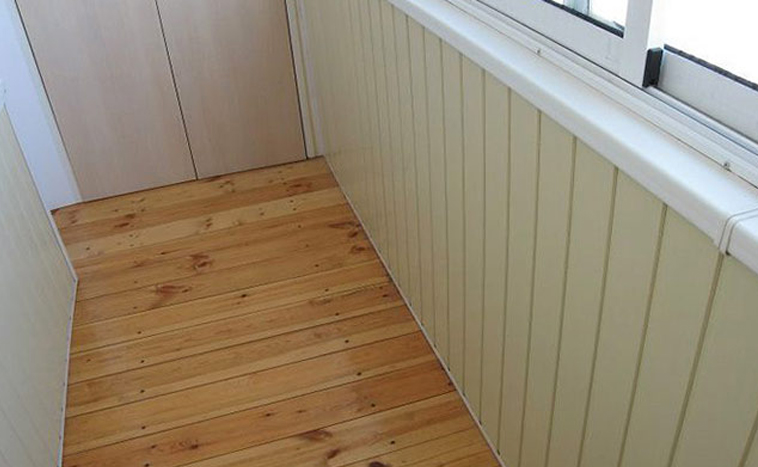 Деревянный пол для балкона и лоджий