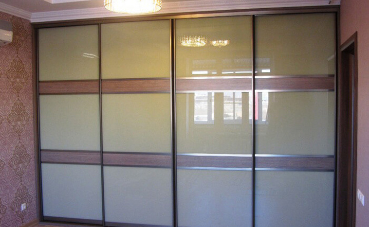 Двери из стекла Lacobel для шкафов купе в Уфе