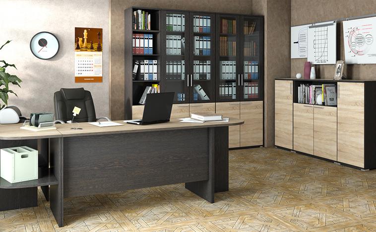 Корпусная мебель для офиса на заказ в Уфе