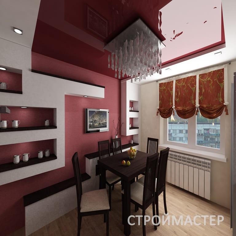 Двухуровневые натяжные потолки Уфа