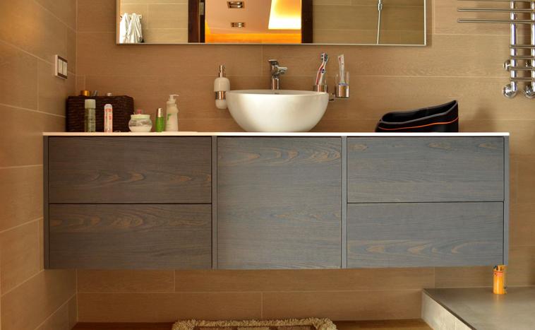 Корпусная мебель для ванной на заказ в Уфе