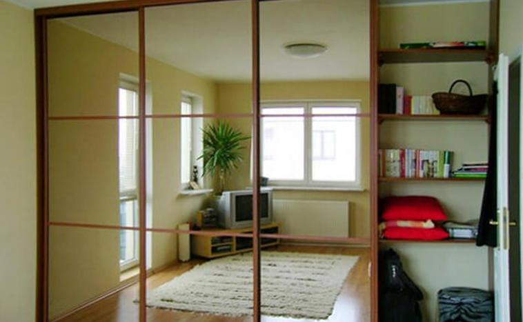 Двери с зеркалом для шкафов купе в Уфе
